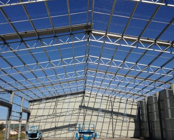 Fabricated Frames - Web Truss Buildings - All Steel Sheds